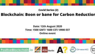 Webinar – Blockchain: Boon or bane for Carbon reduction