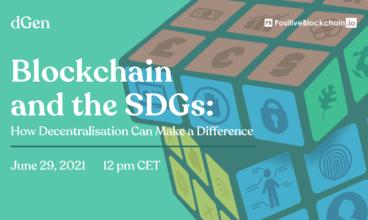 PB & dGen report launch webinar – Blockchain for SDGS – 29.06 12pm CET
